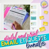 Email Etiquette Lesson Bundle Digital & Print: How to Emai
