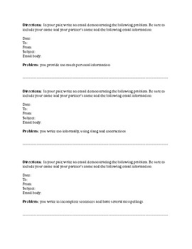 Email Etiquette Review and Practice