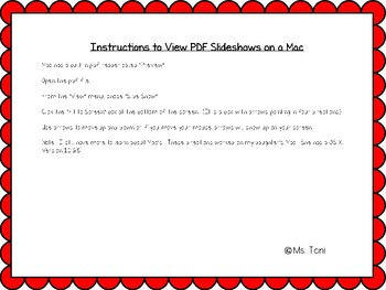 Instructions for Viewing PDF Slideshows