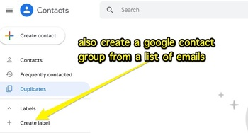 Email List to List of Names & Google Contact Label Creator