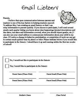 Email Listserv Form