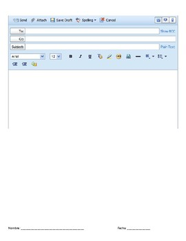 Email Template Worksheets Teaching Resources Tpt