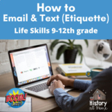 How to Email & Text Message (Etiquette) ~ Boom Cards ~ Gra