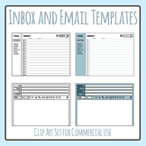 Email User Interface Templates / Layouts Clip Art Set for Commercial Use