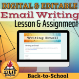 Email Writing Complete Back to School Lesson