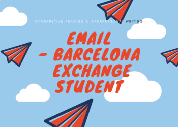 Email with Barcelona exchange student