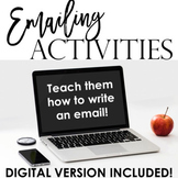 Emailing Activities: How to Write an Email - Pack 1