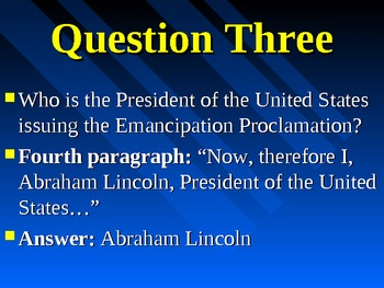 Emancipation Proclamation Analysis Assignment