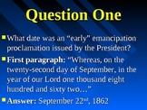 Emancipation Proclamation Analysis Assignment