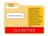 Civil War: Emancipation Proclamation CSI