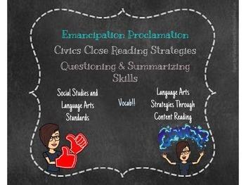 Emancipation Proclamation Close Reading