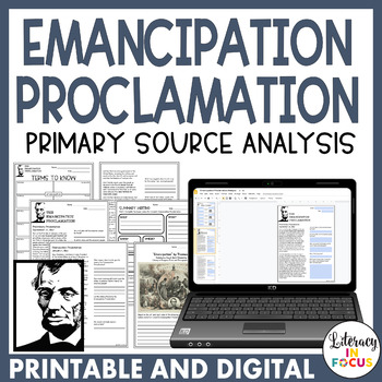 Emancipation Proclamation Primary Source Analysis (Full Text Included!)