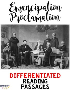 Emancipation Proclamation Reading Passages Leveled Texts