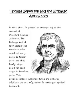Jefferson and the Embargo Act of 1807