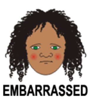 Embarrassment  - 1 of 9 Faces of Emotions for Emotional Intelligence Curriculum