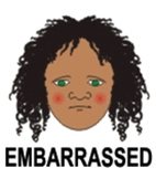 Embarrassment  - 1 of 9 Faces of Emotions for Emotional In