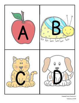 Embedded Alphabet Flashcards and Alphabet Chart