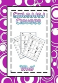 Embedded Clauses with 'who' Sentence Generation Learning Activity