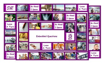 Embedded Questions Legal Size Photo Board Game
