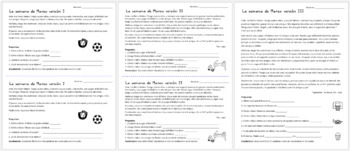 Embedded Reading + Writing Activity with Realidades 1 4B Vocabulary