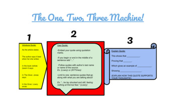 "Embedding Direct Quotes: ""The 1,2,3 Machine!"""