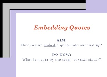 Embedding Quotations