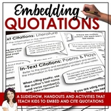 Embedding Quotes with Options for Distance Learning