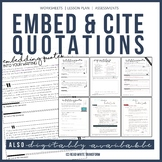 Embedding Quotations: Teach Students to Quote It Right! MLA In Text Citation
