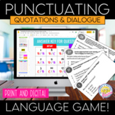 Embedding Quotations and Formatting Dialogue Punctuation Game