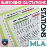 Embedding Quotations in Research Papers: MLA Practice Activities
