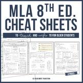 [UPDATED 2019] MLA 8 Format Cheat Sheet