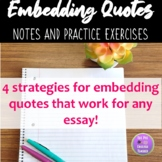 Embedding Quotes Notes
