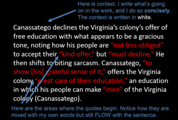 AP Lang - Embedding Quotes for Rhetorical Analysis; Assertion and Thesis Stems