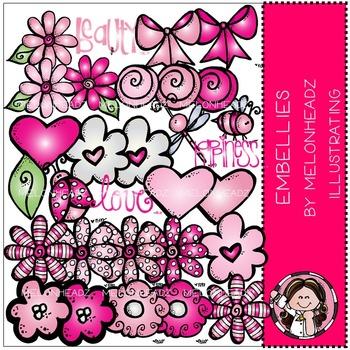 Melonheadz: Embellies clip art - pink - COMBO PACK