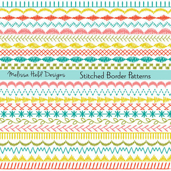 Embroidered Border Patterns Clipart