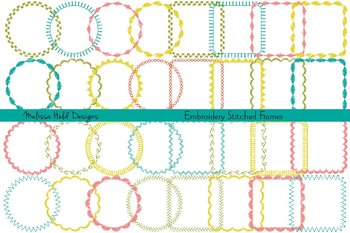 Clipart:  Embroidered Frames Clip Art
