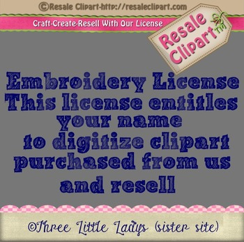 Embroidery License