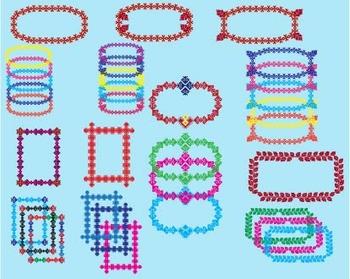 Embroidery frames Clip Art Business card postcard CHRISTMAS RETRO SCHOOL -014-