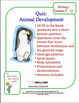 Embryology / Development Quiz or Review