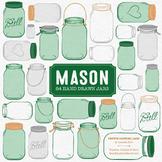 Emerald Mason Jars Clipart & Vectors - Ball Jar Clipart