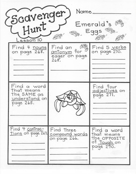 Emerald's Eggs  4th Grade Harcourt Storytown Lesson 10