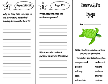 Emerald's Eggs Trifold - Storytown 4th Grade Unit 2 Week 5