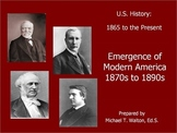 Emergence of Modern America PowerPoint Unit for US History 1865 to the Present