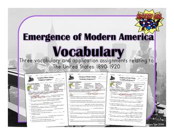 Emergence of Modern America Vocabulary Activities