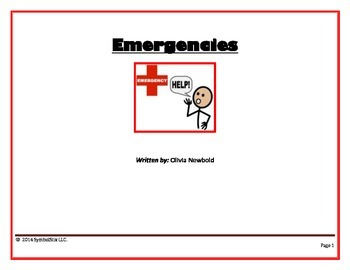 Emergencies Social Story & Rules- For Special Education and Autism