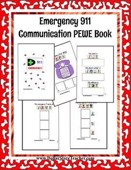 Emergency 911 PEWE - PECS style Book - Autism, PDD, Life Skills, Preschool