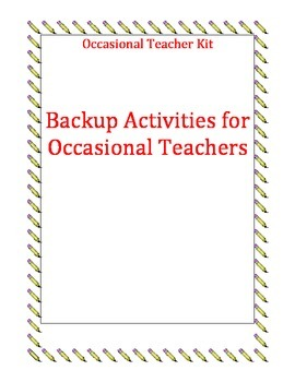 Emergency Activities For Occasional Teachers