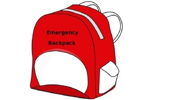 Emergency Backpack Tags