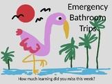 Emergency Bathroom Chart