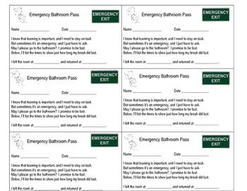 Emergency Bathroom Pass